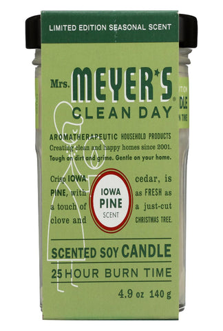 Mrs. Meyers Clean Day - Soy Candle - Iowa Pine - Case Of 6 - 4.9 Oz