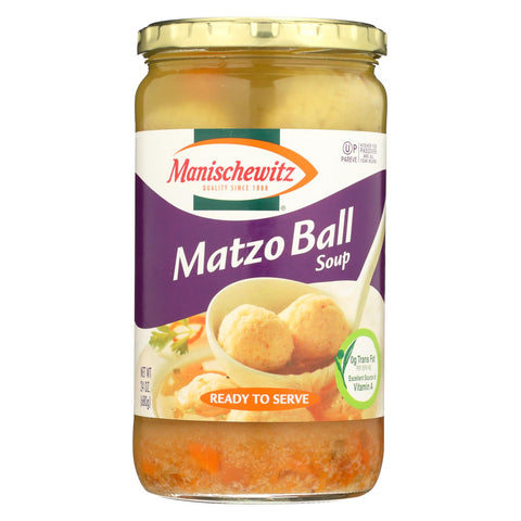 Manischewitz Soup Matzo Ball - Case Of 12 - 24 Oz.