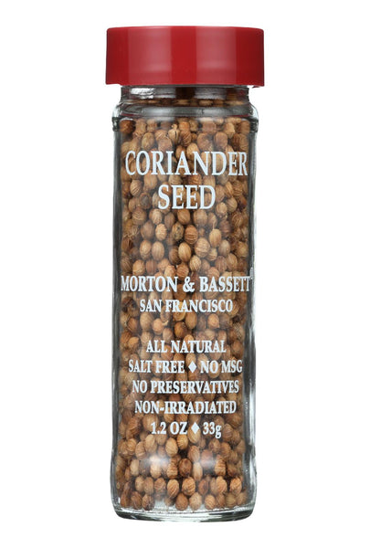 Morton And Bassett Seasoning - Coriander Seed - 1.2 Oz - Case Of 3