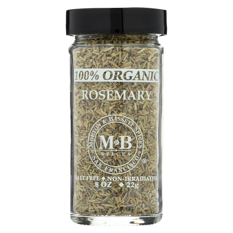 Morton And Bassett - Seasoning - Organic Rosemary - Case Of 3 - .8 Oz.
