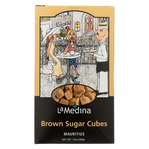 La Medina Sugar Cubes - Brown - Case Of 12 - 13 Oz.
