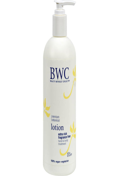 Beauty Without Cruelty Extra Rich Hand And Body Lotion Fragrance Free - 16 Fl Oz