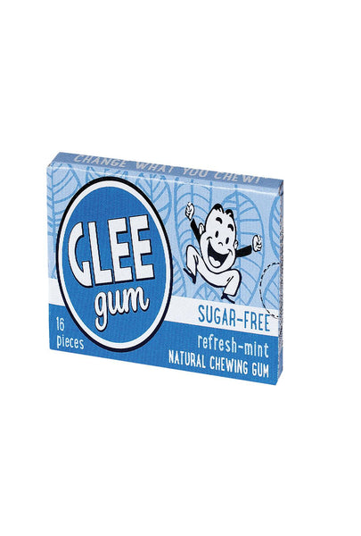 Glee Gum Chewing Gum - Refresh Mint - Sugar Free - Case Of 12 - 16 Pieces