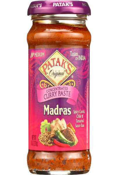 Pataks Curry Paste - Concentrated - Madras - Medium - 10 Oz - Case Of 6