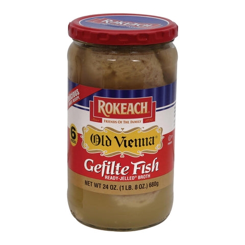 Rokeach Gefilte Fish - Old Vienna - Jellied - Case Of 12 - 24 Oz.
