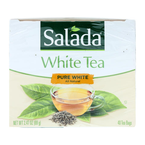 Salada Tea White Tea - Pure - Case Of 6 - 40 Count