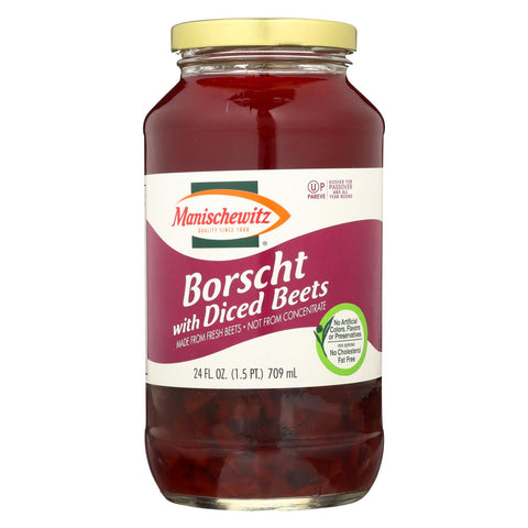 Manischewitz Borscht With Shredded Beets - Case Of 12 - 24 Oz.