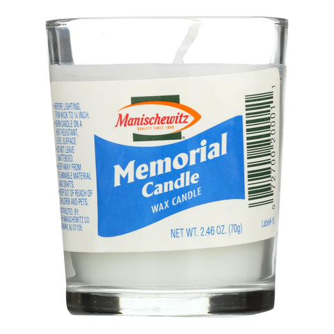 Manischewitz - Candle Memorial Glass - Case Of 24 - Ct