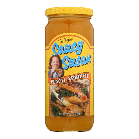 Saucy Susan Original Sauce - Peach Apricot - Case Of 12 - 19 Oz.