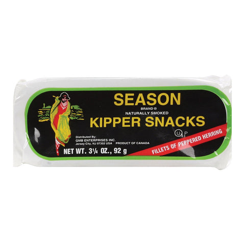 Season Brand Kipper Snacks Salt Added - Case Of 24 - 3.25 Oz.