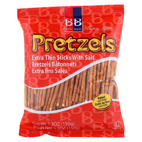 Beigel Beigel - Pretzel Sticks - Super Sticks - Case Of 24 - 5.3 Oz.