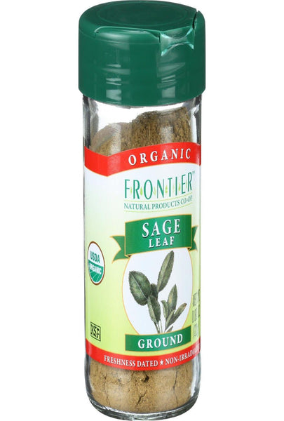 Frontier Herb Sage Leaf - Organic - Ground - .8 Oz
