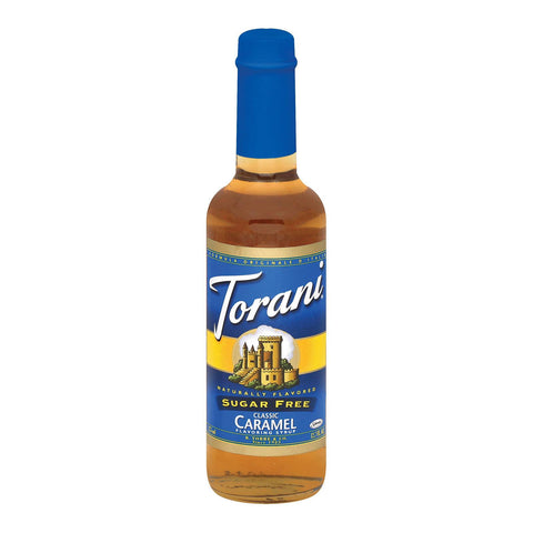 Torani Caramel Syrup - Sugar Free - Case Of 6 - 12.7 Oz.