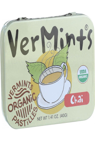 Vermints Pastilles - All Natural - Chai - 1.41 Oz - Case Of 6
