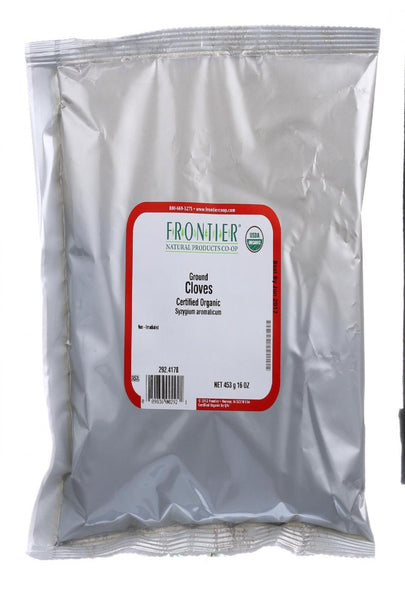Frontier Herb Cloves - Organic - Powder - Ground - Bulk - 1 Lb