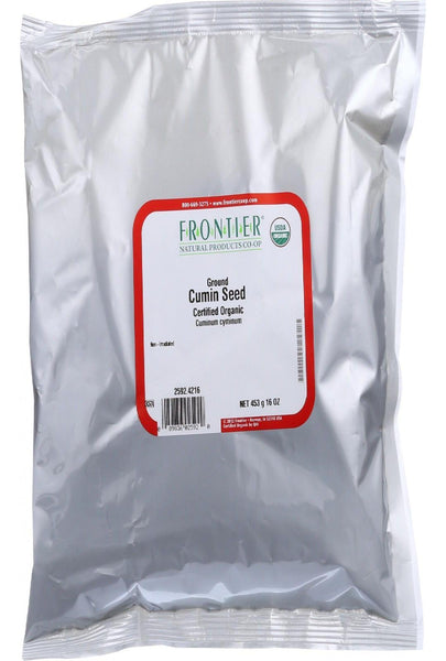 Frontier Herb Cumin Seed Powder - Organic - Ground - Bulk - 1 Lb