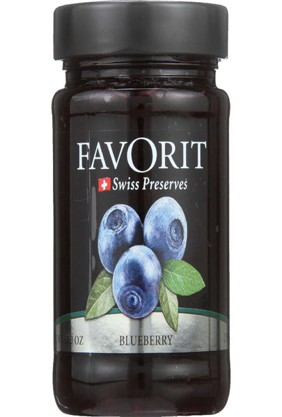Favorit Preserves - Swiss - Blueberry - 12.3 Oz - Case Of 6