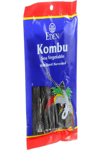 Eden Foods Kombu - Sea Vegetable - Wild Hand Harvested - 2.1 Oz - Case Of 6