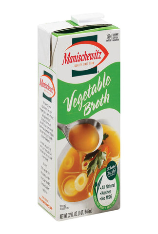 Manischewitz Broth Vegetable Aseptic - Case Of 12 - 32 Fl Oz.