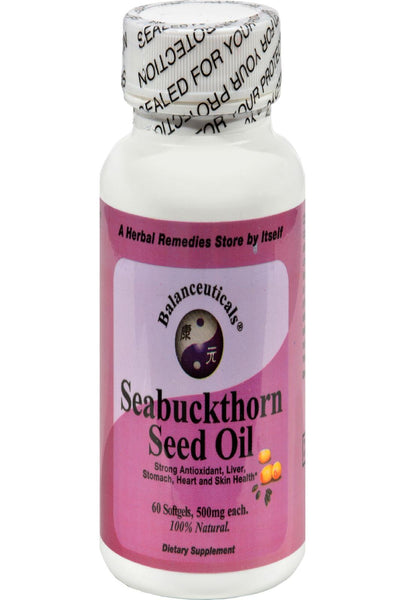 Balanceuticals Seabuckthorn Seed Oil - 500 Mg - 60 Softgels