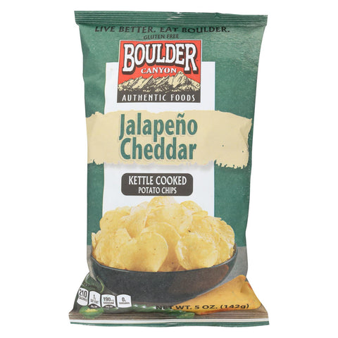 Boulder Canyon Natural Foods Chips - Jalapeno Cheddar - Case Of 12 - 5 Oz.