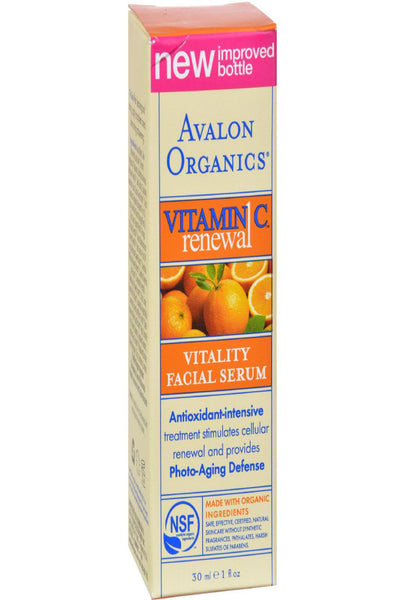 Avalon Organics Vitality Facial Serum Vitamin C - 1 Fl Oz