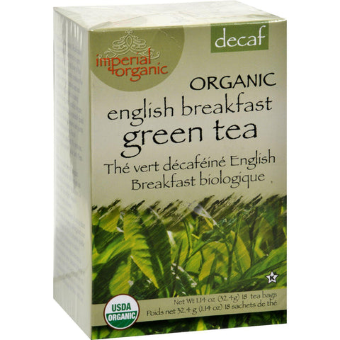 Uncle Lee's Imperial Organic Decaffeinated English Breakfast Green Tea - 18 Tea Bags