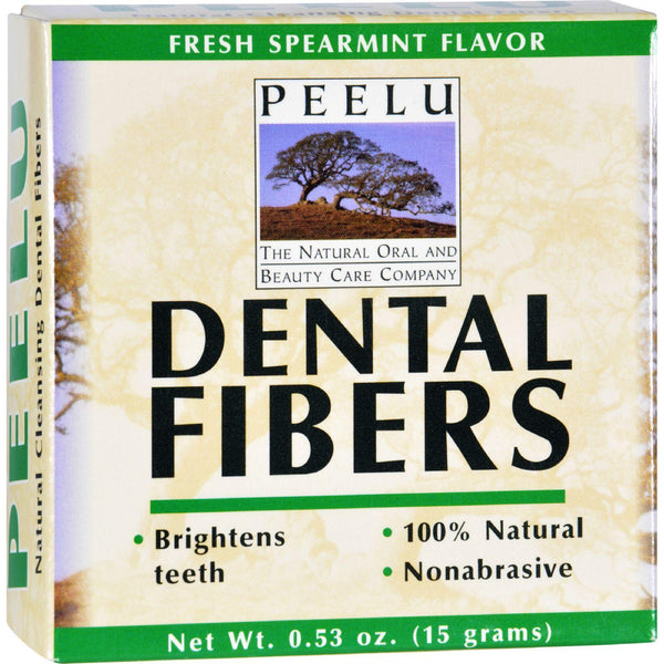 Peelu Dental Fibers Tooth Powder - Spearmint - .53 Oz