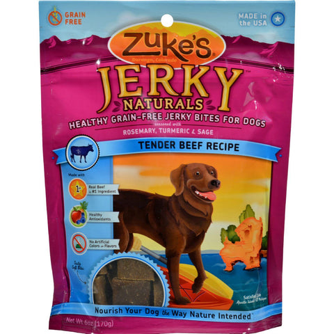 Zuke's Jerky Naturals For Dogs Beef - 6 Oz