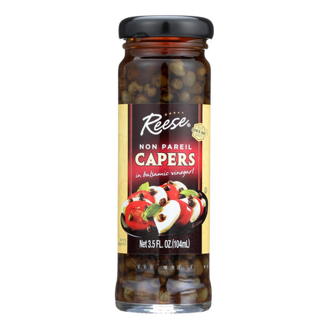 Reese Non-pareil Capers In Balsamic Vinegar  - Case Of 12 - 3.5 Oz