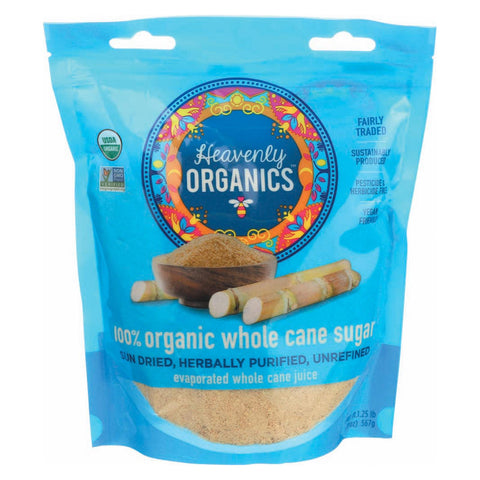 Heavenly Organics 100% Organic Heavenly Sugar - Case Of 6 - 20 Oz