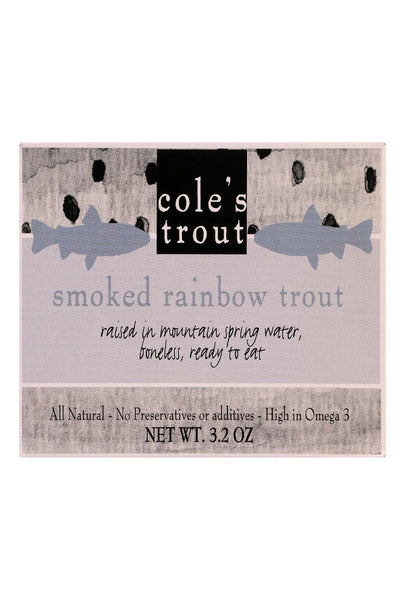 Cole's Smoked Rainbow Trout In Olive Oil - 3.2 Oz - Case Of 10