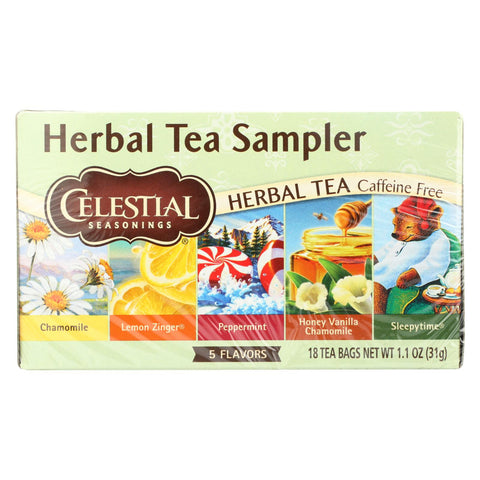Celestial Seasonings Herbal Tea - Sampler - Case Of 6 - 18 Bag