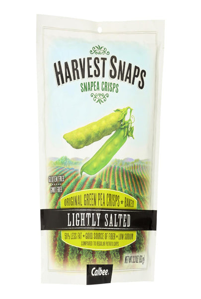 Calbee Harvest Snaps Snapea Crisps - Lightly Salted - Case Of 12 - 3.3 Oz.