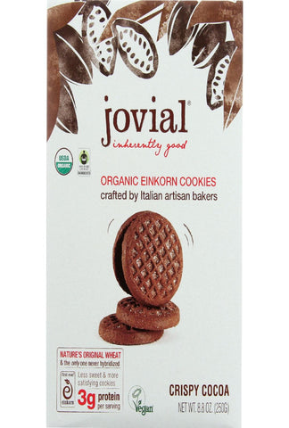 Jovial Cookie - Organic - Einkorn - Crispy Cocoa - 8.8 Oz - Case Of 12