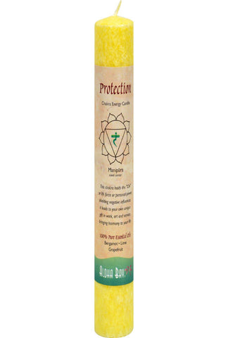 Aloha Bay Chakra Pillar Candle Protection Yellow - 1 Candle