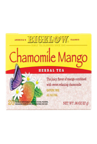Bigelow Tea Tea - Chamomile With Mango - Case Of 6 - 20 Bag