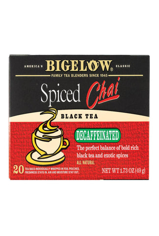 Bigelow Tea Tea - Decaf - Chai Spiced - Case Of 6 - 20 Bag