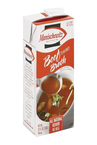 Manischewitz Beef Flavored Broth - Case Of 12 - 32 Fl Oz.