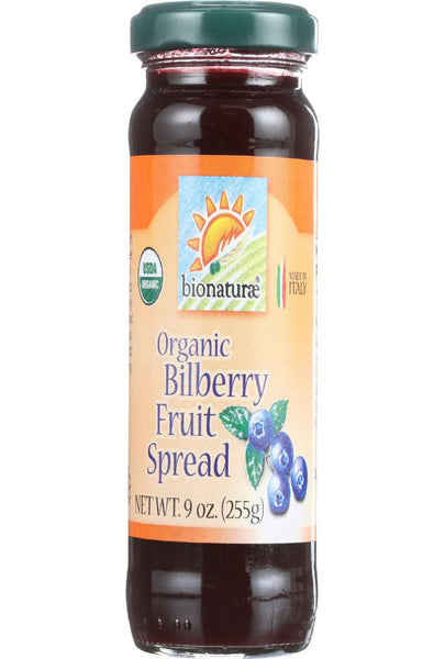 Bionaturae Fruit Spread - Organic - Bilberry - 9 Oz - Case Of 12