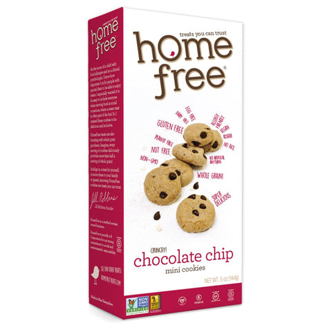 Homefree Gluten Free Chocolate Chip Mini Cookies - 5 Oz - Case Of 6