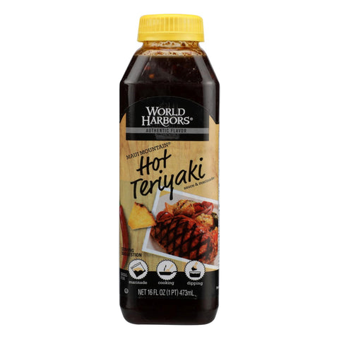 World Harbor Hot Teriyaki - Case Of 6 - 16 Fl Oz.
