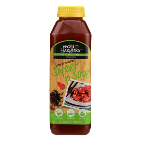 World Harbor Maui Mountain, Hawaiian Style Sweet And Sour Sauce - Case Of 6 - 16 Fl Oz.