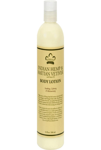 Nubian Heritage Lotion,indian Hempandhatian - 13 Oz