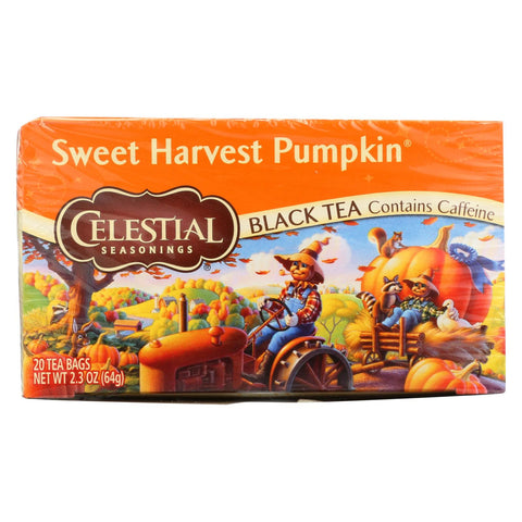 Celestial Seasonings - Tea - Sweet Harvest Pumpkin - Case Of 6 - 20 Bags