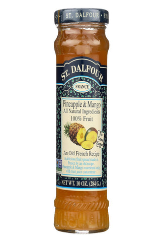St Dalfour Fruit Spread - Deluxe - 100 Percent Fruit - Pineapple And Mango - 10 Oz - Case Of 6