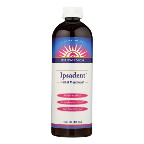 Heritage Store Ipsadent Herbal Mouthwash - 1 Each - 16 Oz.