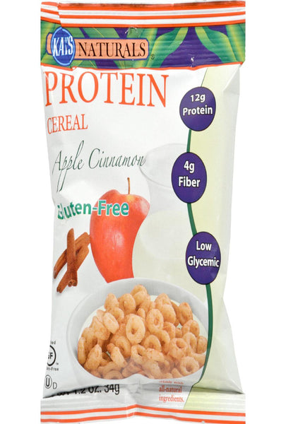 Kay's Naturals Protein Cereal Gluten Free Apple Cinnamon - 1.2 Oz - Case Of 6
