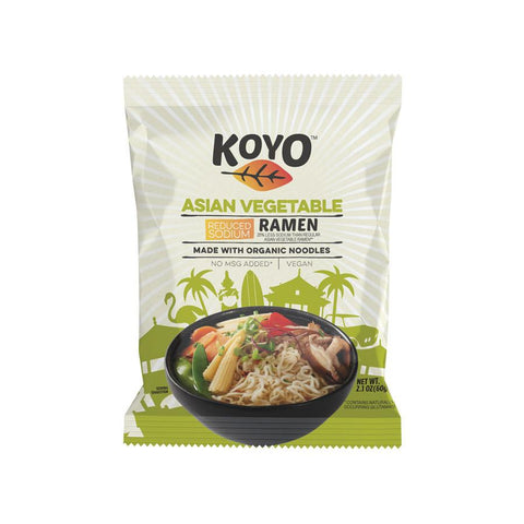 Koyo Ramen - Reduced Sodium Asian Vegetable - Case Of 12 - 2.1 Oz.