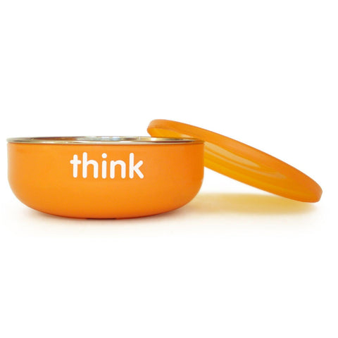 Thinkbaby  Baby  Bowl - Low Wall - Orange
